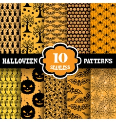 Seamless patterns set vector