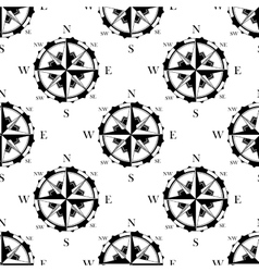 Retro nautical compasses seamless pattern vector