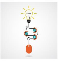 Creative light bulb idea and computer mouse vector
