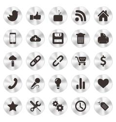 Social web aluminium icons vector
