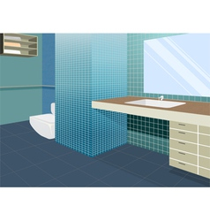 Bathroom colors scene vector