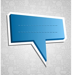 Social media speech bubble over texture vector