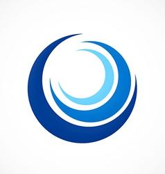 Circle swirl wave abstract logo vector