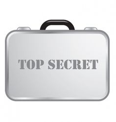 Steel briefcase top secret vector