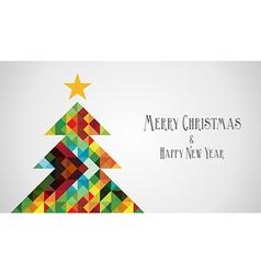 Diversity mosaic arty christmas tree vector