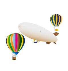Balloons and airship vector