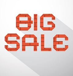 Big sale bricks title vector