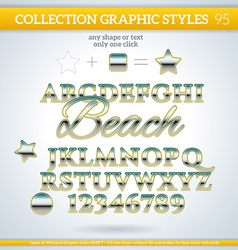 Beach graphic styles for design use for decor text vector