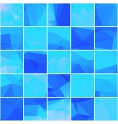 Abstract mosaik blue background vector