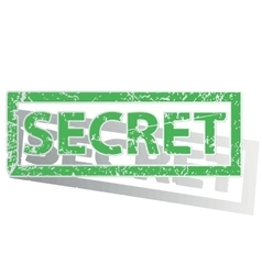 Green outlined secret stamp vector