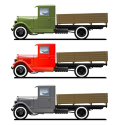 Retro lorry isolated vector