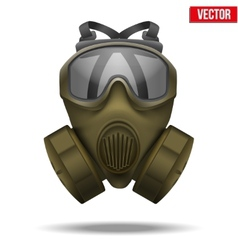 Khaki gas mask respirator vector
