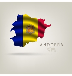 Flag of andorra as a country with shadow vector