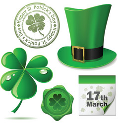Patricks day symbols vector