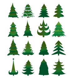 Christmas pine trees vector