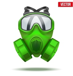 Green gas mask respirator vector