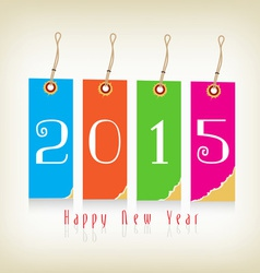 Happy new year with tags vector