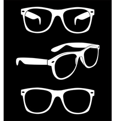 Set of hipster sunglasses vector
