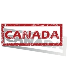 Canada outlined stamp vector