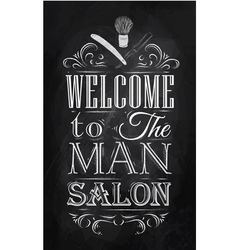 Barbershop poster chalk vector