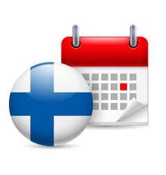 Icon of national day in finland vector