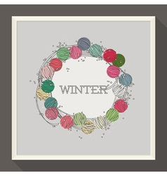 Abstract winter design with colorful beads vector