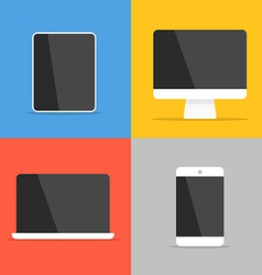 Different modern personal gadgets vector