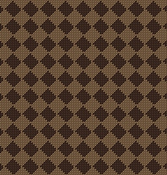 Diagonal square brown beige seamless fabric vector