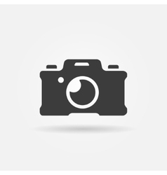 Photo camera icon or logo vector