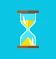 Hourglasses on blue background vector