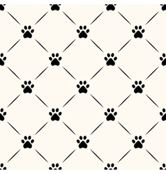 Seamless animal pattern of paw footprint vector