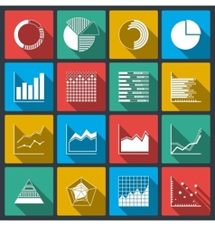 Business icons of ratings graphs and charts vector