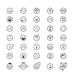 Smiley faces icons vector