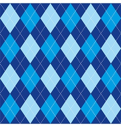 Argyle pattern blue rhombus seamless texture vector