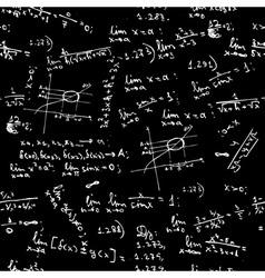 Seamless background math formulas vector