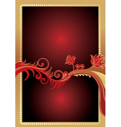 Golden gift card vector