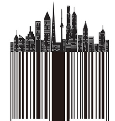 City bar code vector