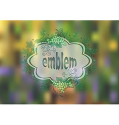 Banner with bunches of grape and background vector