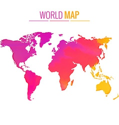 Colorful world map design vector