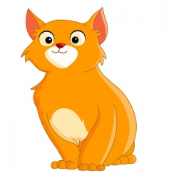 Cute ginger cat vector