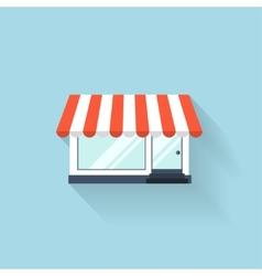 Flat web icon internet shop vector