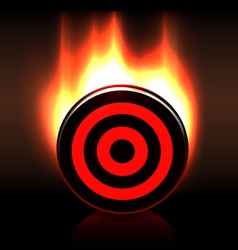 Blazing glossy target goal plate vector