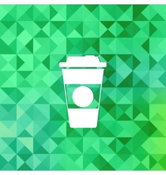 Takeaway coffee cup icontriangle background vector