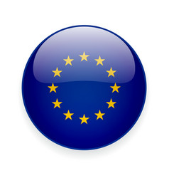 Round icon with flag of the european union vector