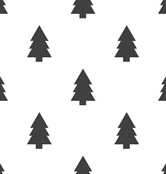 Fir-tree seamless pattern vector