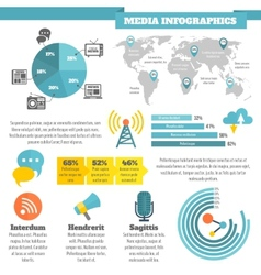 Media infographics vector