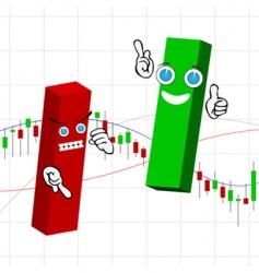 Candle stick bar chart vector