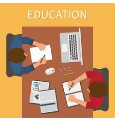 Workplace endless education training and online vector