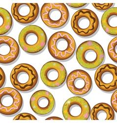Tasty donuts pattern vector