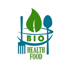 Bio health food icon vector